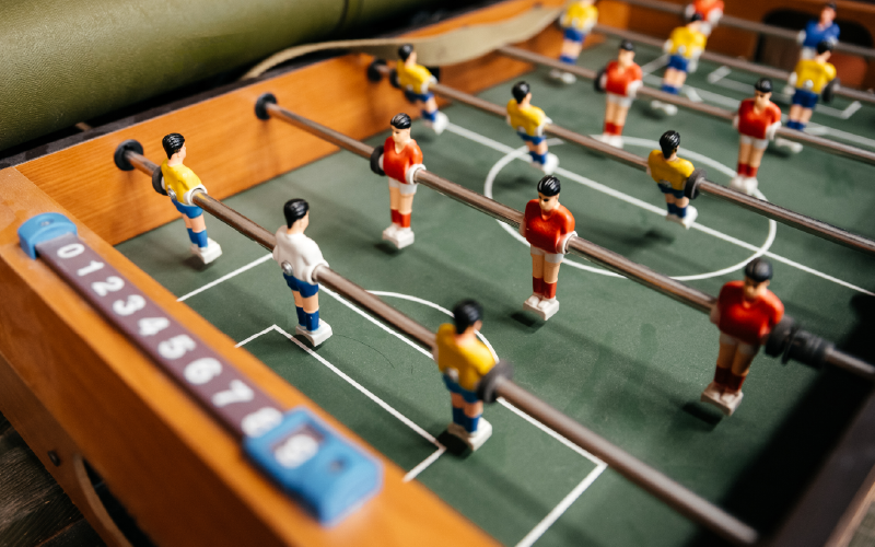 score in a foosball game