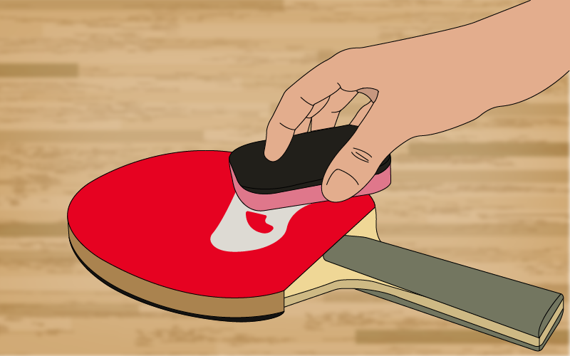 monthly maintenance for ping pong paddle