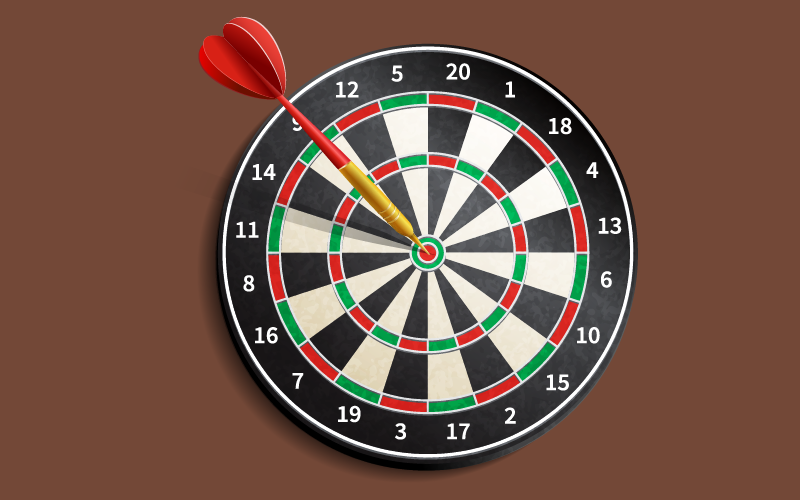How far to stand from dart board?